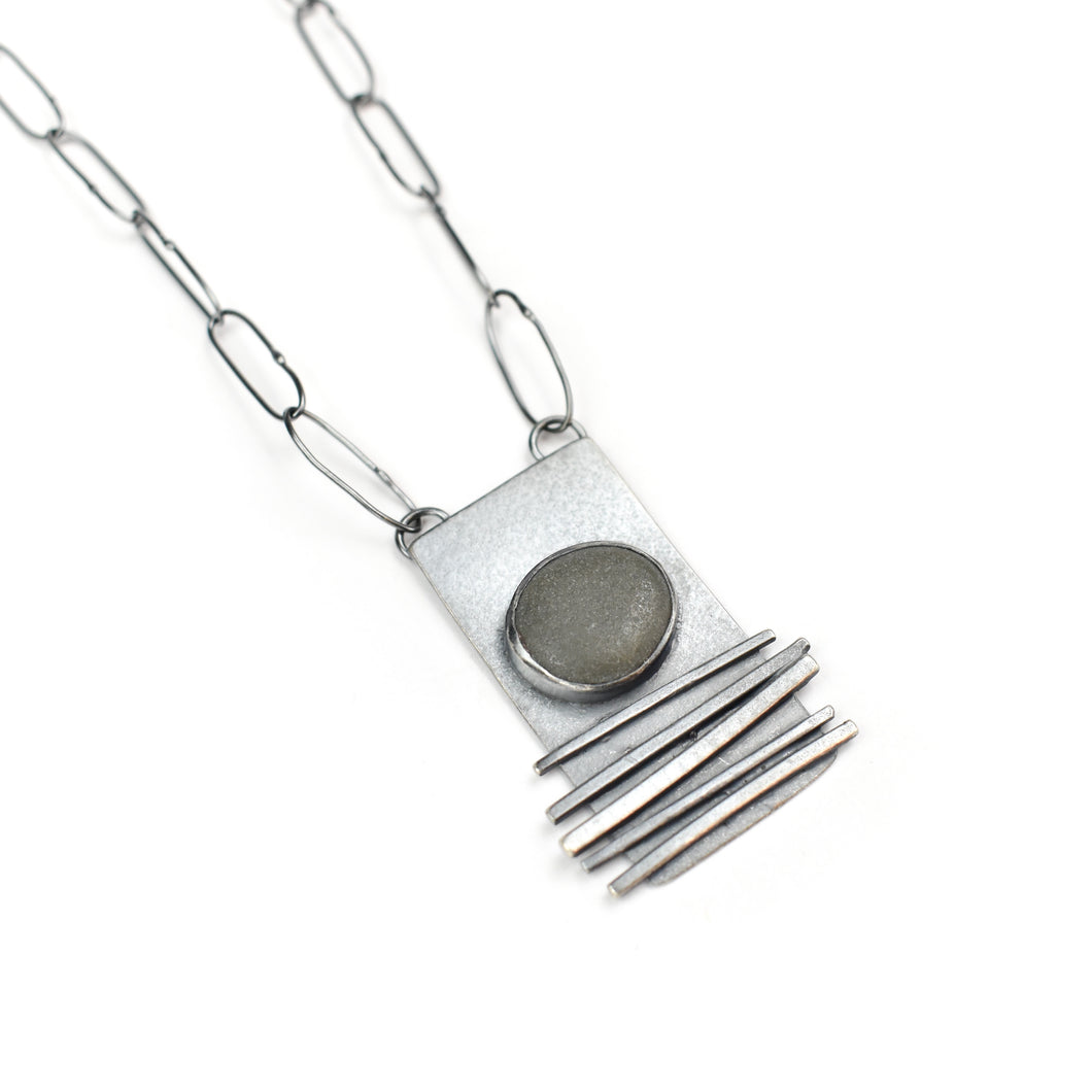 Jennifer Nunnelee Sterling Silver Small Grass Necklace