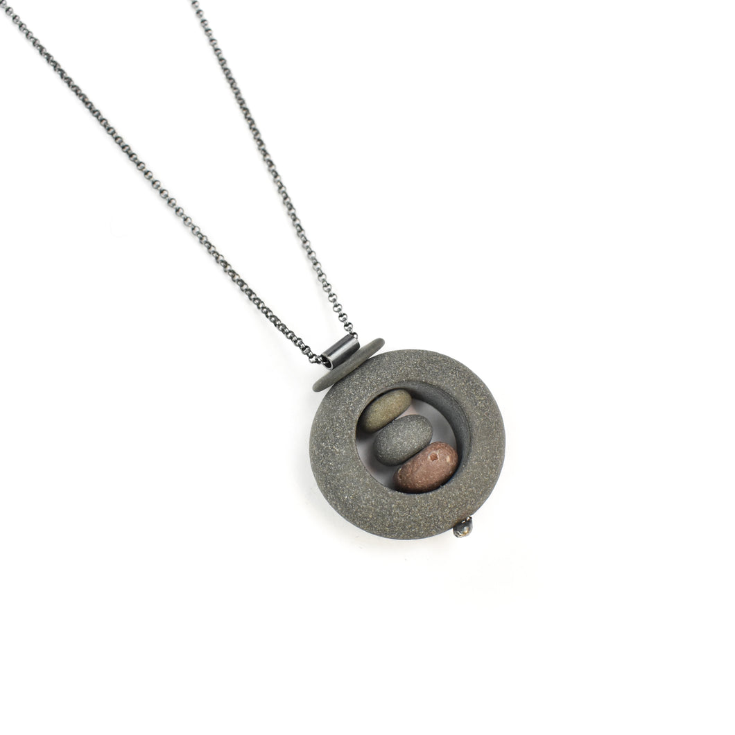 Jennifer Nunnelee Small Stone in Stone Necklace