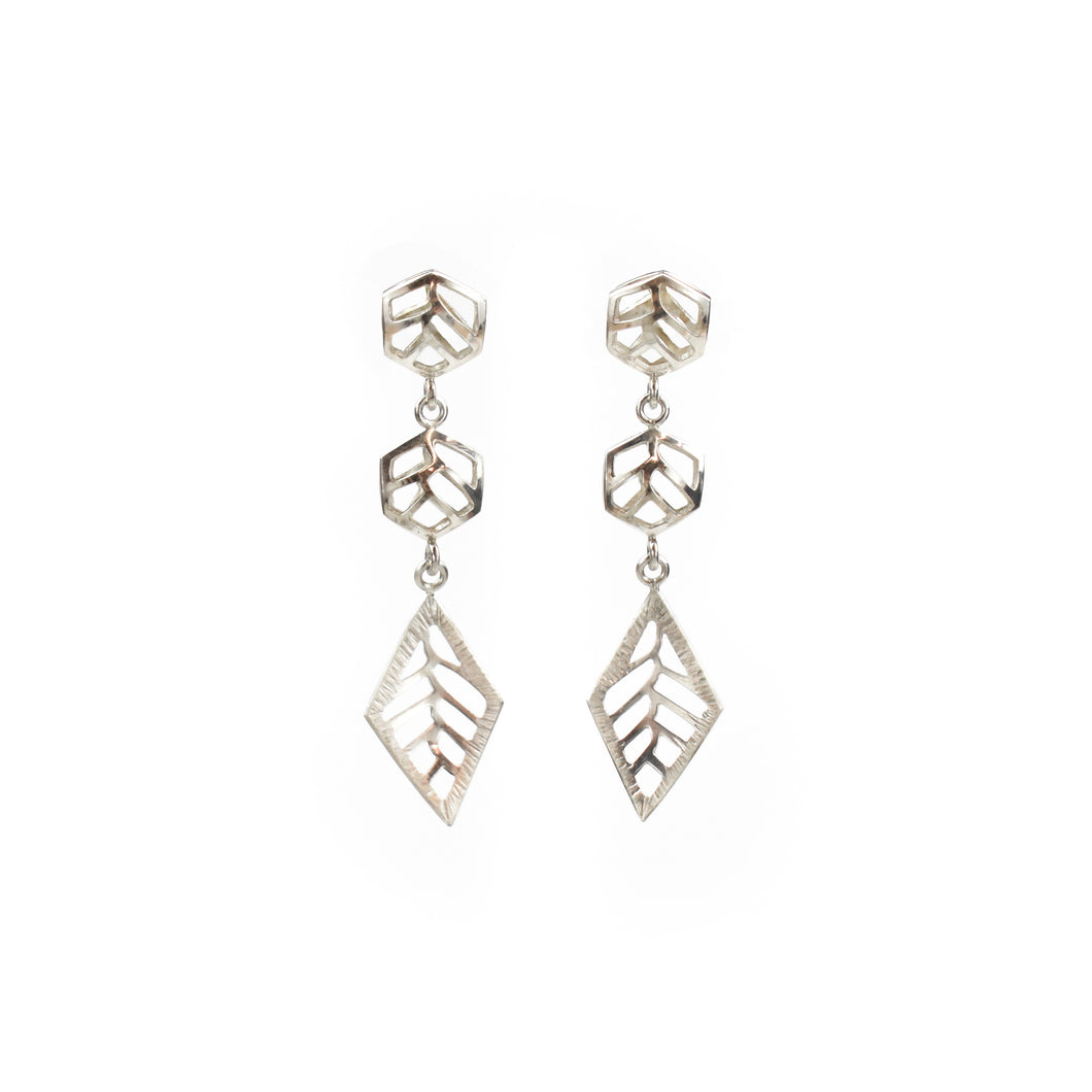 Stacy Rodgers Mea Bright Double Hex & Diamond Dangle Earrings