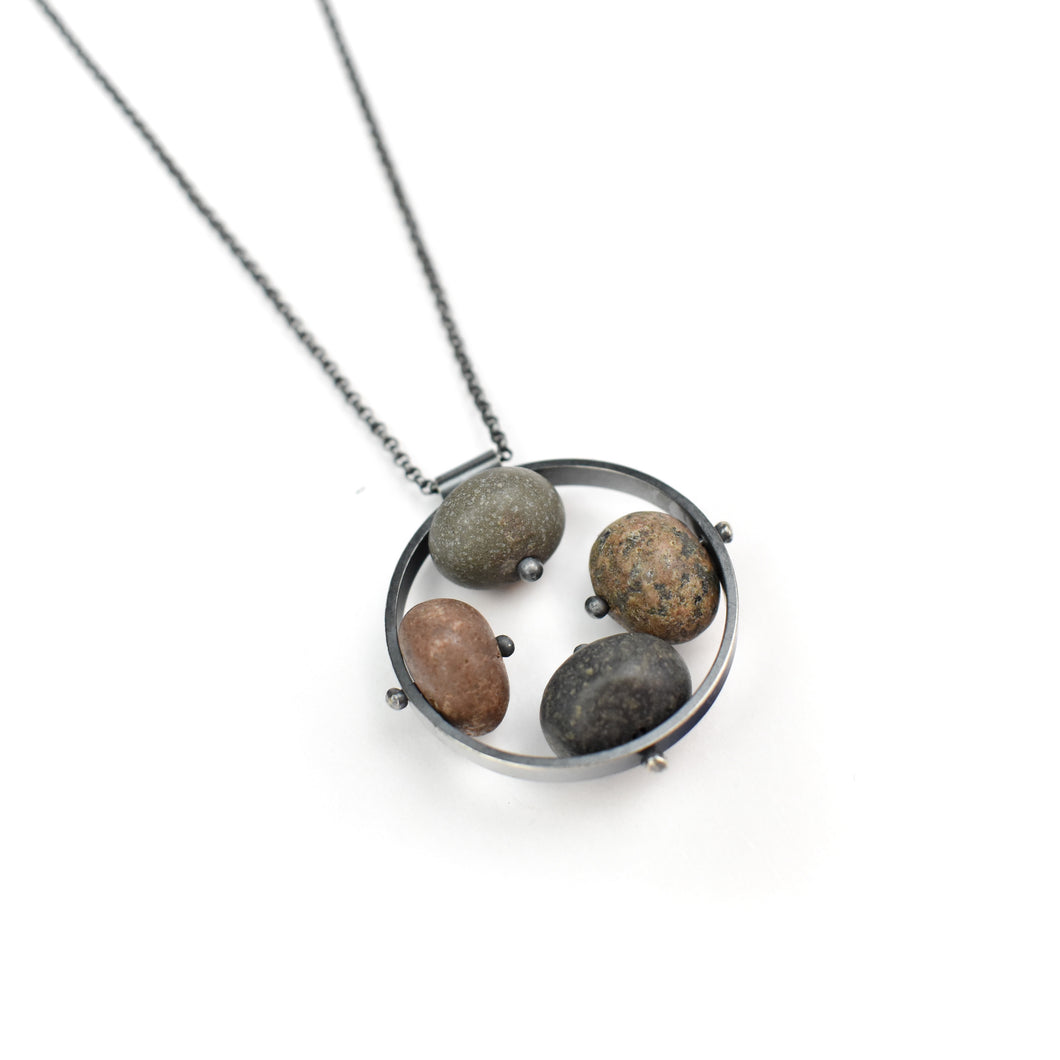 Jennifer Nunnelee Four Stone Inside Necklace