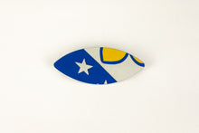 Load image into Gallery viewer, Boris Bally Large Recycled Street Sign Eye Brooch