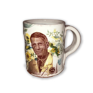 Justin Rothshank Face and Flower Mug