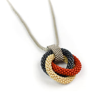 Load image into Gallery viewer, Olga Mihaylova Triple Circle Pendant Necklace