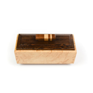 Robert Bishop Maple/Walnut/Birch Keepsake Box