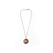 Load image into Gallery viewer, Aileen Lampman Sterling, Red Jasper, Red Dog, Blue Iolite Micro Mosaic Pendant Necklace