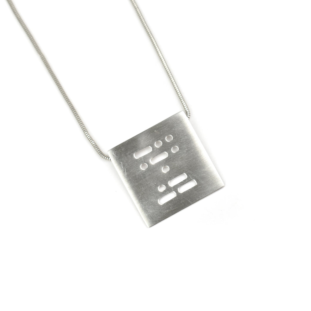 Allison Hilton Jones Sterling Silver Morse Code Necklace