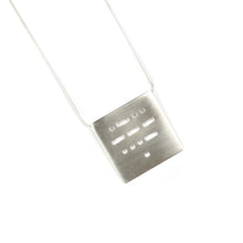 Load image into Gallery viewer, Allison Hilton Jones Sterling Silver Morse Code Necklace