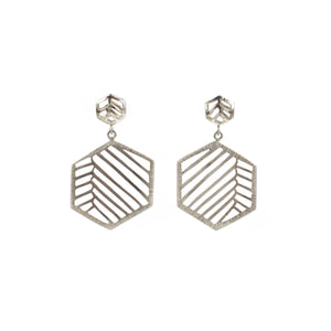 Stacy Rodgers Mea Bright Small & Large Hex Dangle Earrings