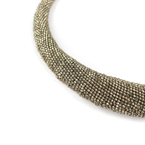 Olga Mihaylova Silver Crocheted Necklace