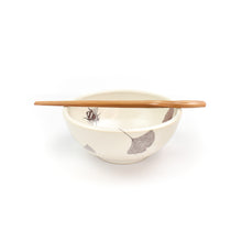 Load image into Gallery viewer, Sandy Miller Ceramic Gingko Bowl with Chop Stix