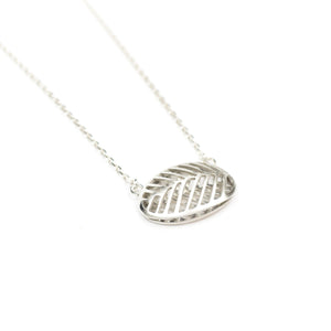 Stacy Rodgers Mea Bright Large Oval Pendant Necklace