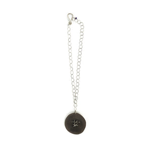 Sarah Stanton Disc with Stitching Necklace