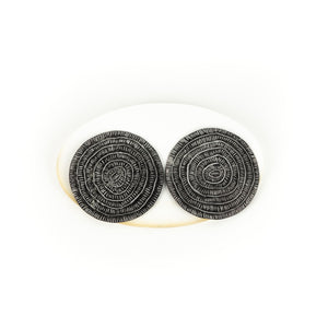 Tanya Crane Large Circle Sgraffito Earrings