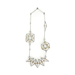 Emilie Pritchard Oxidized Sterling Silver & Gold Geometric Necklace