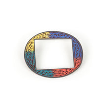 Load image into Gallery viewer, Mary Kanda Circle Square Brooch