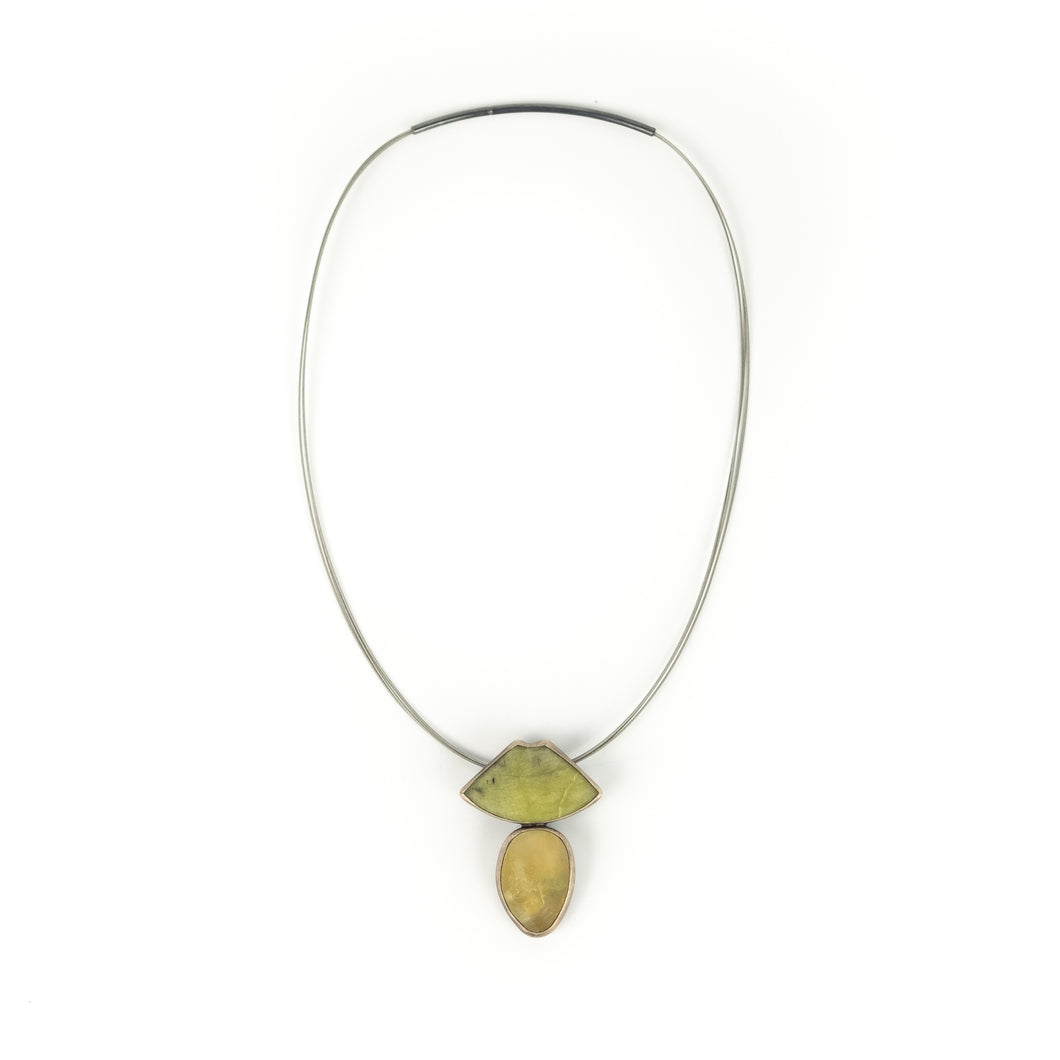Terri Logan Stone and Glass Necklace