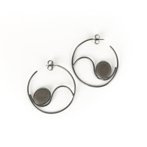 Jennifer Nunnelee Wave Hoop Earrings