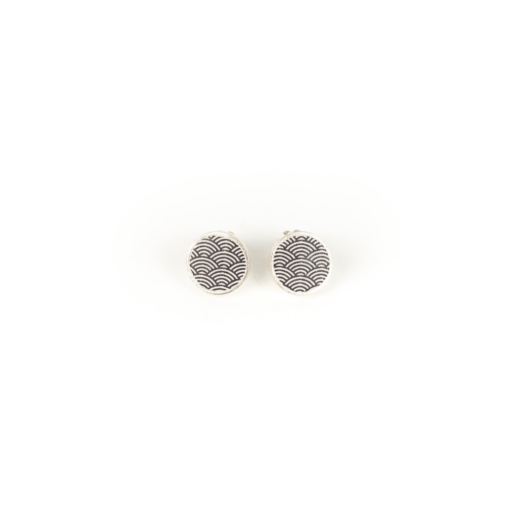 Tegan Wallace Wave Stud Earrings