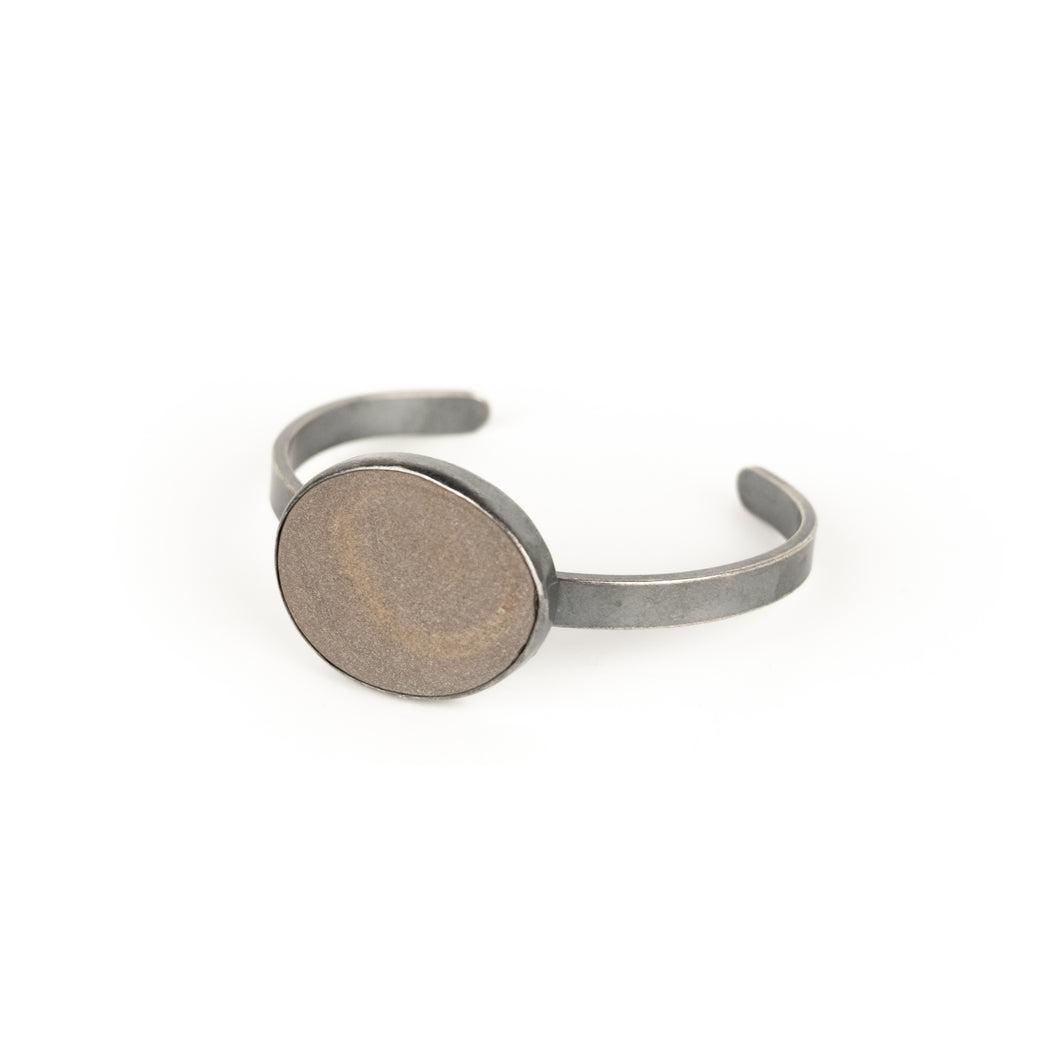 Jennifer Nunnelee Single Stone Cuff Bracelet