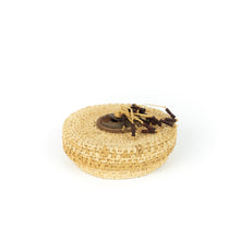 Load image into Gallery viewer, James Ebbert Raffia Basket with Beaded Top