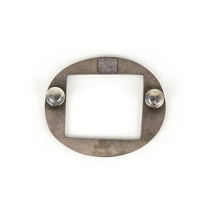 Mary Kanda Circle Square Brooch