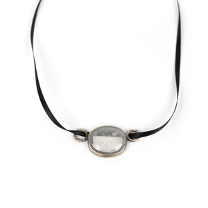 Terri Logan  Clear Stone Choker Necklace