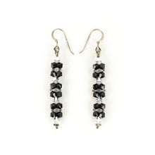 Load image into Gallery viewer, Susan Sawler Long Woven Bead Earrings
