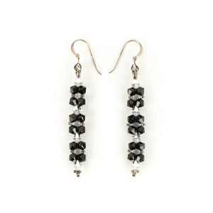 Susan Sawler Long Woven Bead Earrings