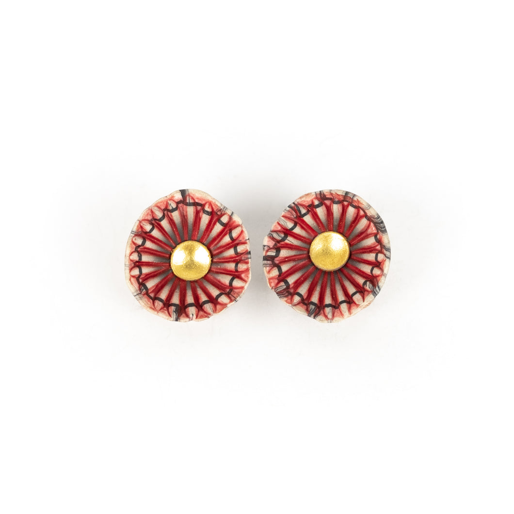Ford and Forlano Shell Clip-On Earrings