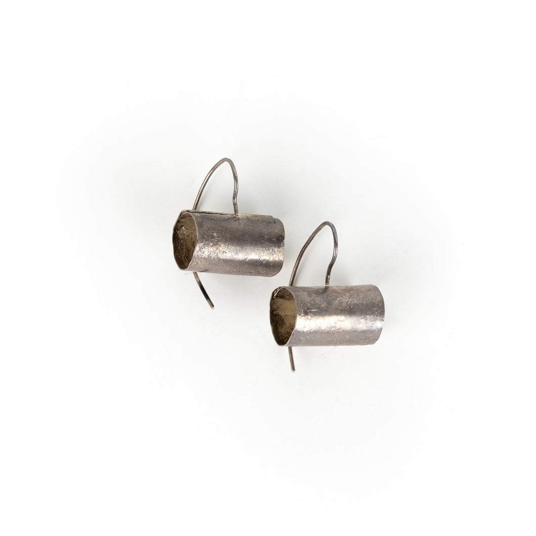Biba Schutz Silver Tube Earrings