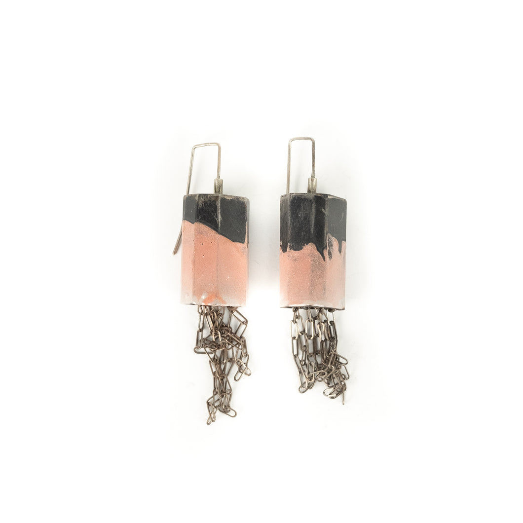 Kat Cole Structure Pink Dangle Earrings