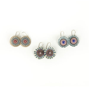 Laura Tabakman Hanging Disc Earrings