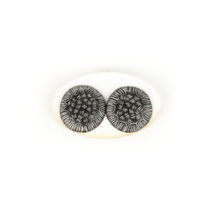 Tanya Crane Small Round Sgraffito Earrings