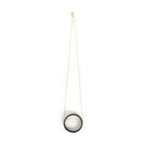 Jenna Vanden Brink Black Porcelain Circle Necklace