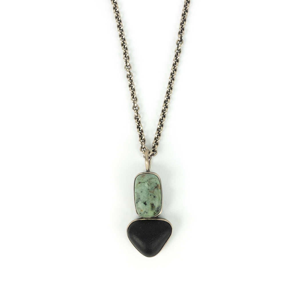 Terri Logan Double  Stone Pendant Necklace
