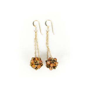Susan Sawler Woven Crystal Bead Earrings