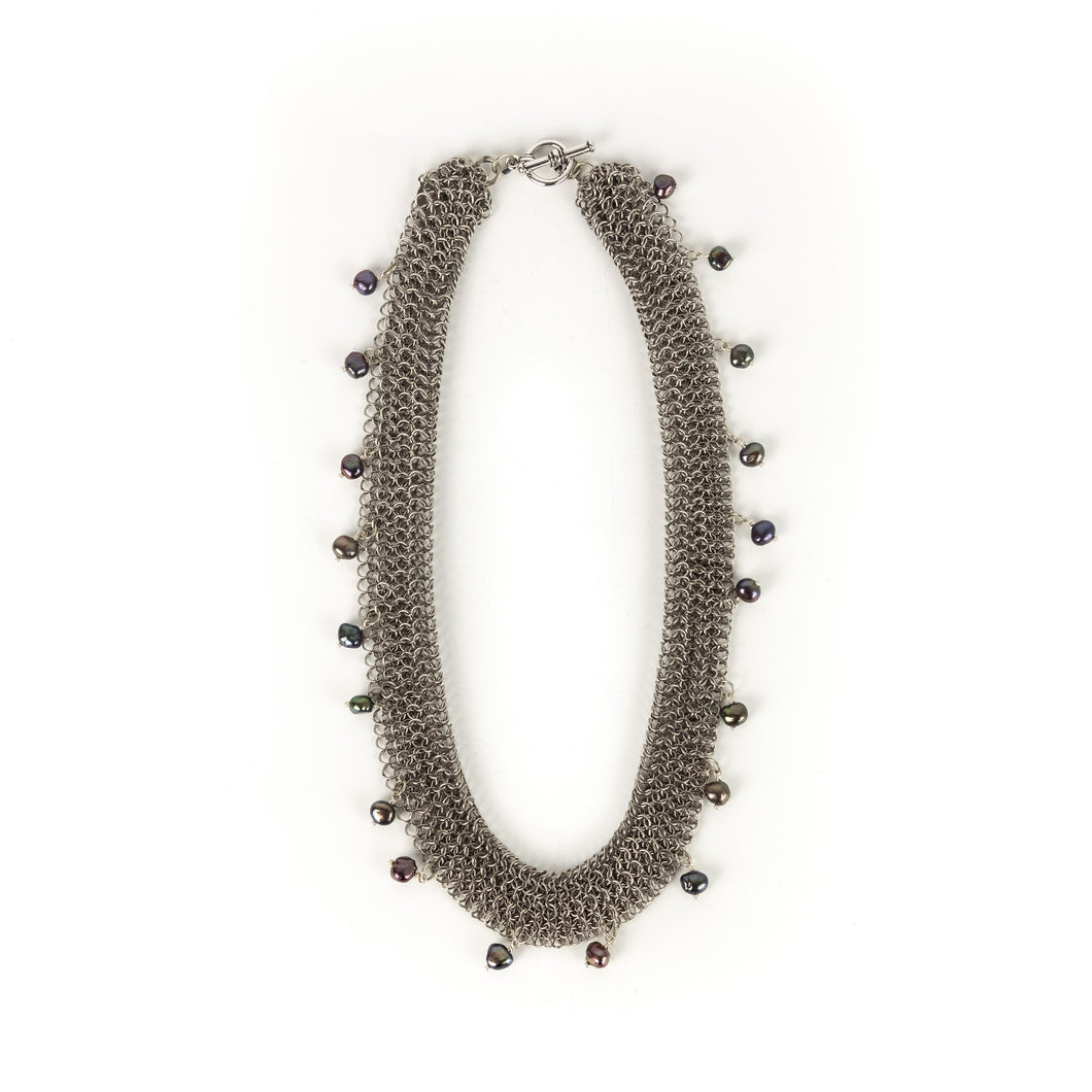 Elaine Unzicker Grey Pearl Necklace