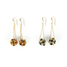 Load image into Gallery viewer, Susan Sawler Woven Crystal Bead Earrings