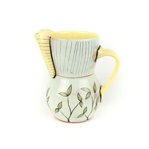 Patty Bilbro Ceramic Yellow & Blue Pitcher