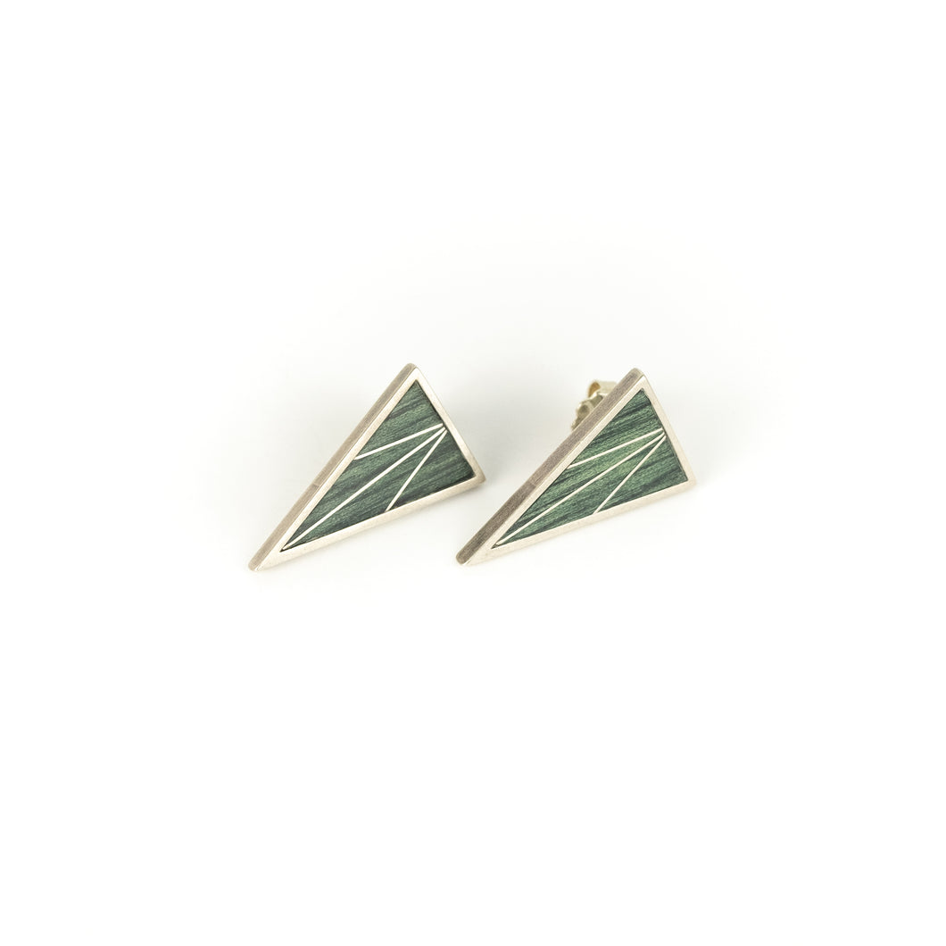 Peter Antor Silver Triangular Post Earrings