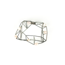 Load image into Gallery viewer, Emilie Pritchard Oxidized Sterling Silver with Pearls Geometric Bracelet