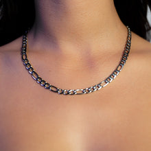 Load image into Gallery viewer, Figaro Chain (7mm) in White Gold
