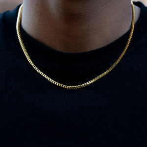 Franco Chain (2.5mm) in Yellow Gold