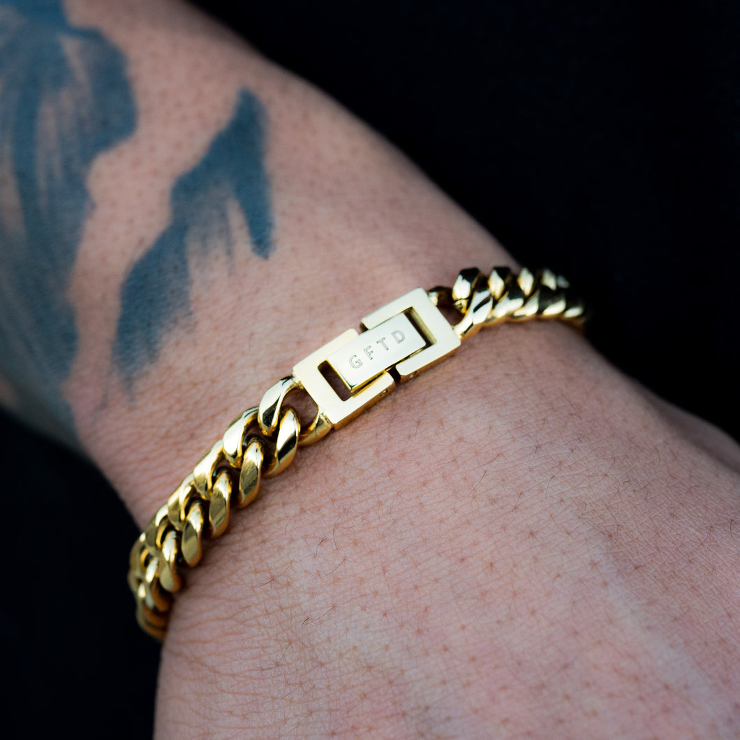 Cuban Link Bracelet (8mm) Yellow Gold