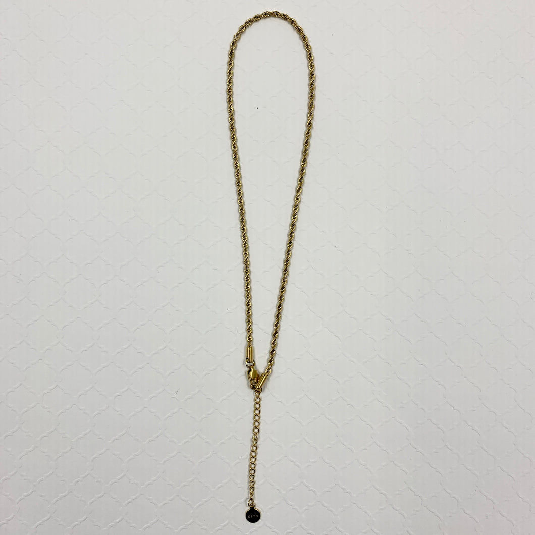 Rope Choker (3mm) in Yellow Gold