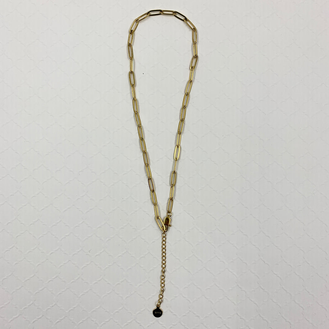 Paperclip Choker (4mm) in Yellow Gold