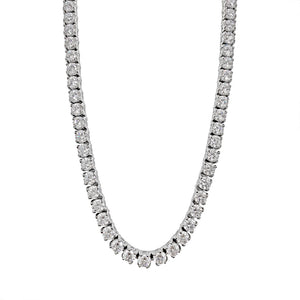 Diamond Tennis Chain (4mm) in White Gold