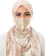 Load image into Gallery viewer, Beige Topaz Hijab Friendly Mask Face Masks