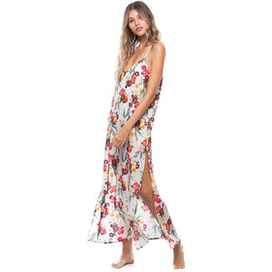 Floral Long Dress - Roseland y Mar