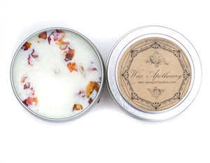 Pure Rose Botanical Travel Tin Candle 4 oz. - Roseland y Mar